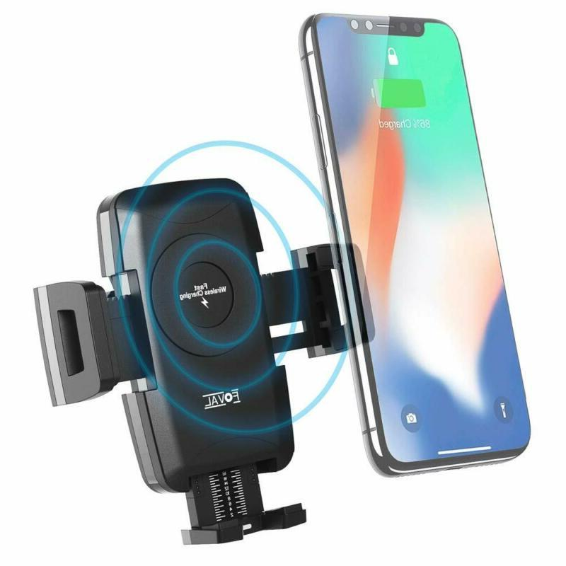 10W Wireless Charger Air Cell Phone Holder Mobile Compatible