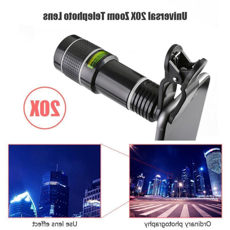 Universal 20X Zoom Telephoto Lens <font><b>External</b></fon