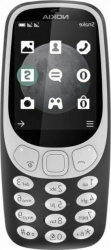 Nokia - 3310 3G Cell Phone  - US Carriers - Charcoal - NEW