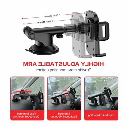 MPOW 360°Rotating Car Holder Windshield Mount for