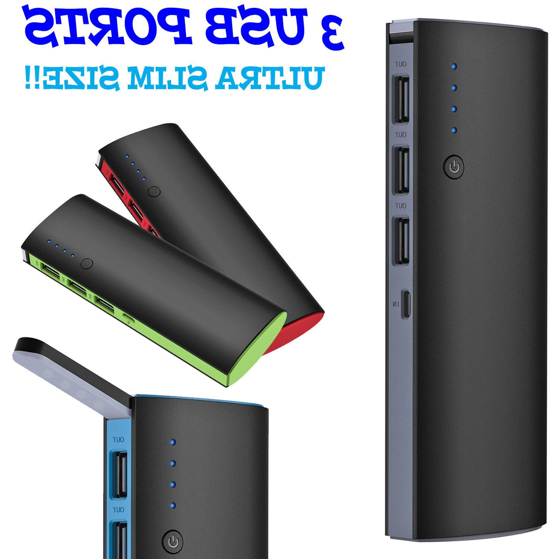50000mah 3 usb external power bank portable