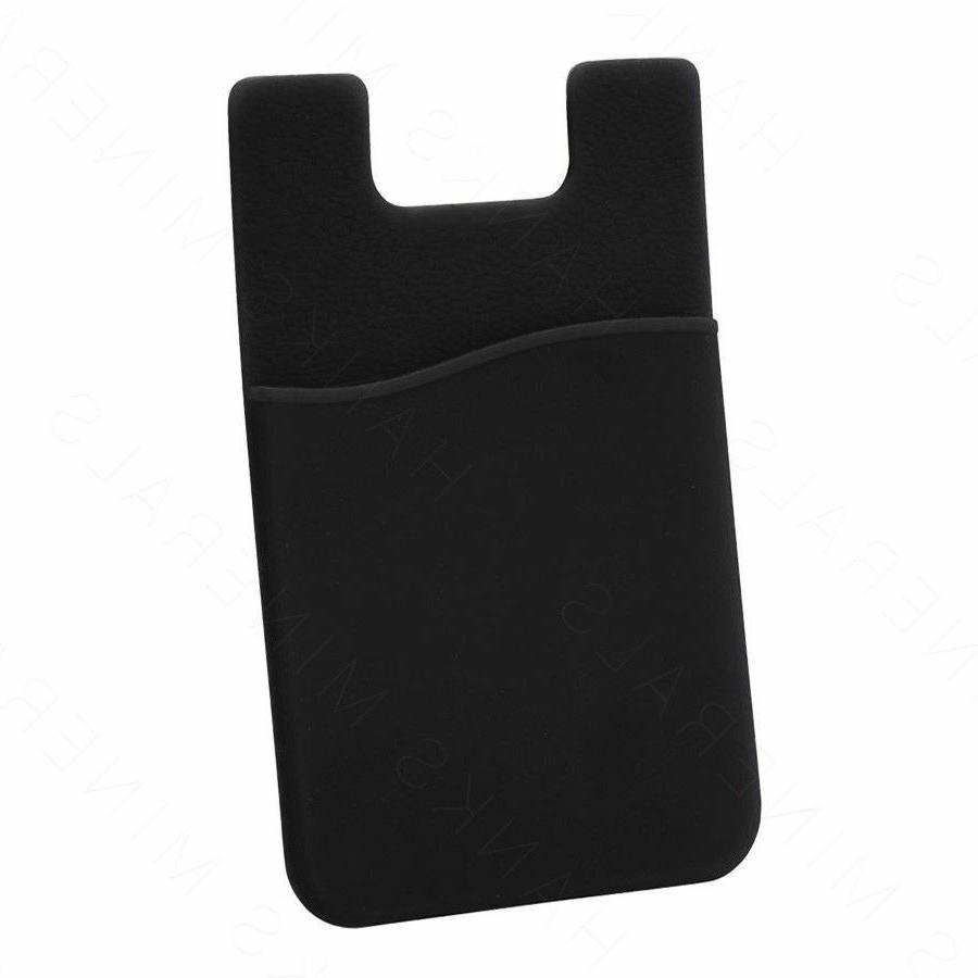 Holder Pocket Adhesive Black