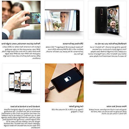 Nokia Android One - Upgrade Pie - Smartphone - Black Warranty