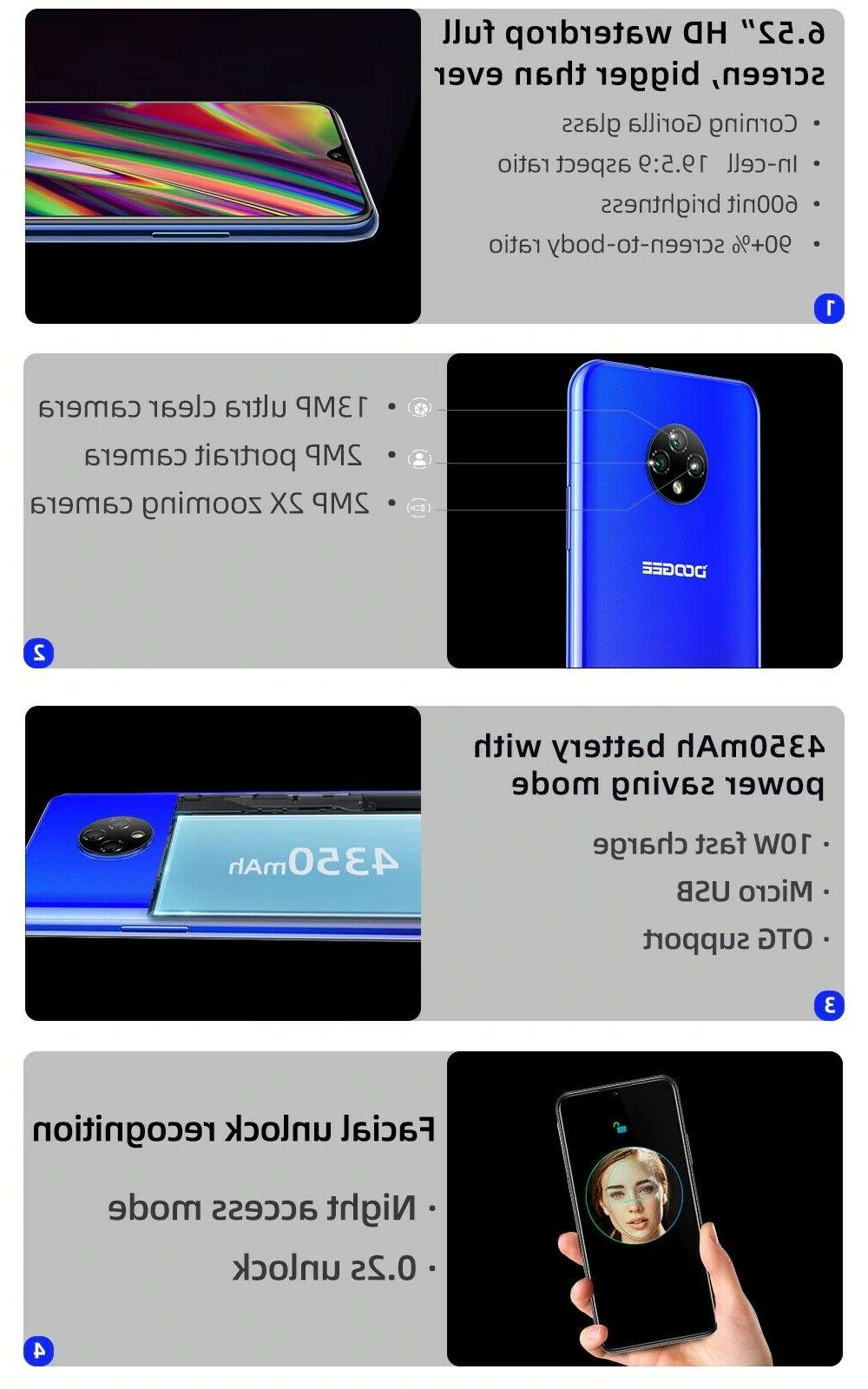 doogee x95 inch android lte Triple mt6737