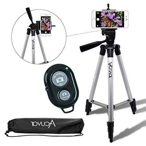"Acuvar 50"" Inch Aluminum Camera Tripod with Universal Smartp"