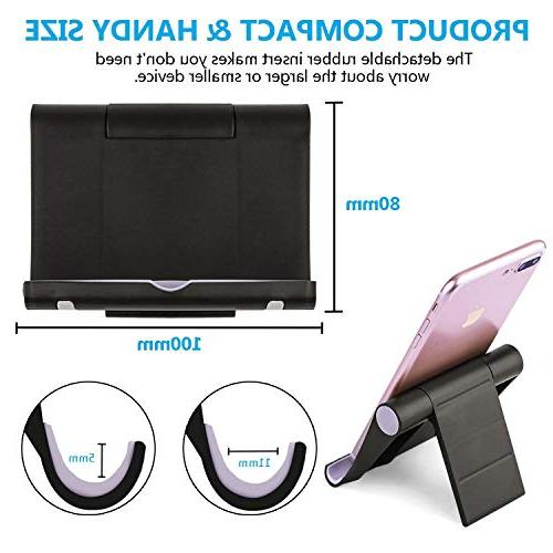 Cell Multi-Angle,【2 Pack】 Stand Smartphones for Holder Tablets, e-Reader, 8, 2
