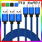 LOT 6FT USB-C Type-C Data Sync Charger Charging Cable Samsun
