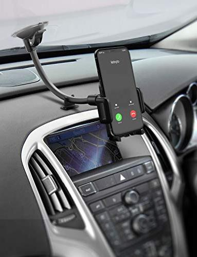 Mpow 033 Phone Holder for Car, Windshield Long Arm Mount with Design and Xs Galaxy