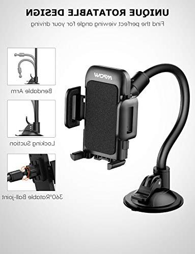 Mpow Cell Phone Holder Car, Long Mount with Design Car Holder Compatible Xs