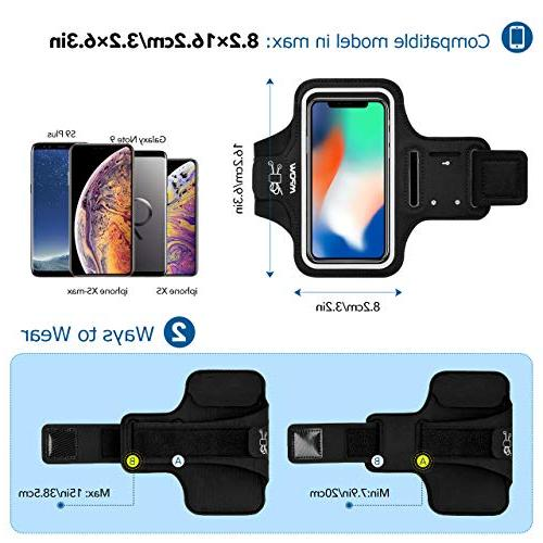 Mpow A1 Phone Armband, Water-Resistant for Running Reflective iPhone XS Max/XR/X, 8/8plus/7, S9/S9 Plus/S8