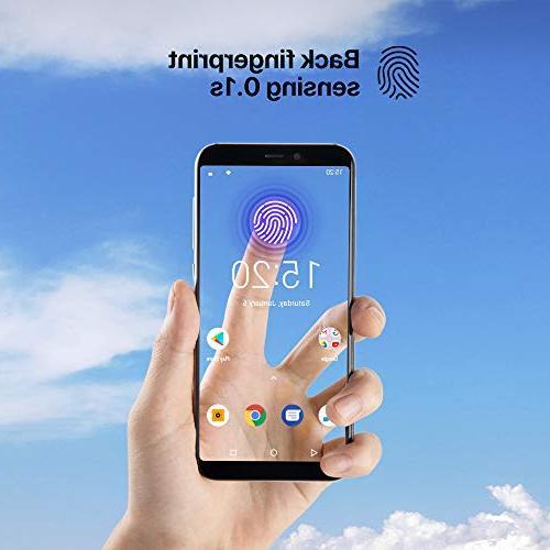 "UMIDIGI Mobile 5.5"" 16GB Unlocked Android Ram Triple Slot, 2 NanoSIMs+Micro-SD + 5MP Camera Fingerprint ID Smartphone"