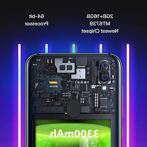 "UMIDIGI Mobile 5.5"" 16GB Android Slot, + Dual Fingerprint 3300mAh Smartphone"