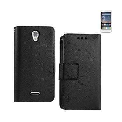 REIKO ALCATEL ONE TOUCH POP ASTRO 3-IN-1 WALLET CASE IN BLAC