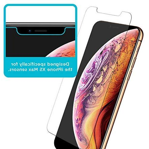 Tech Armor Apple iPhone Xs MAX Ballistic Screen Glass, 3D Accurate Designed for New Apple Xs