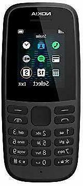 Nokia 105 Black Color Keypad Mobile Feature Phone Cell Phone