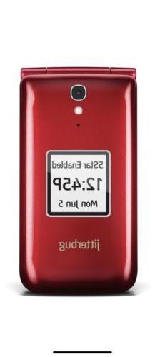 Brand New Jitterbug Flip Easy-to-Use Cell Phone for Seniors