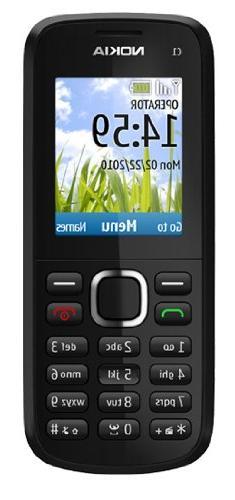 Nokia C1-02 Sim Free Mobile Phone Black