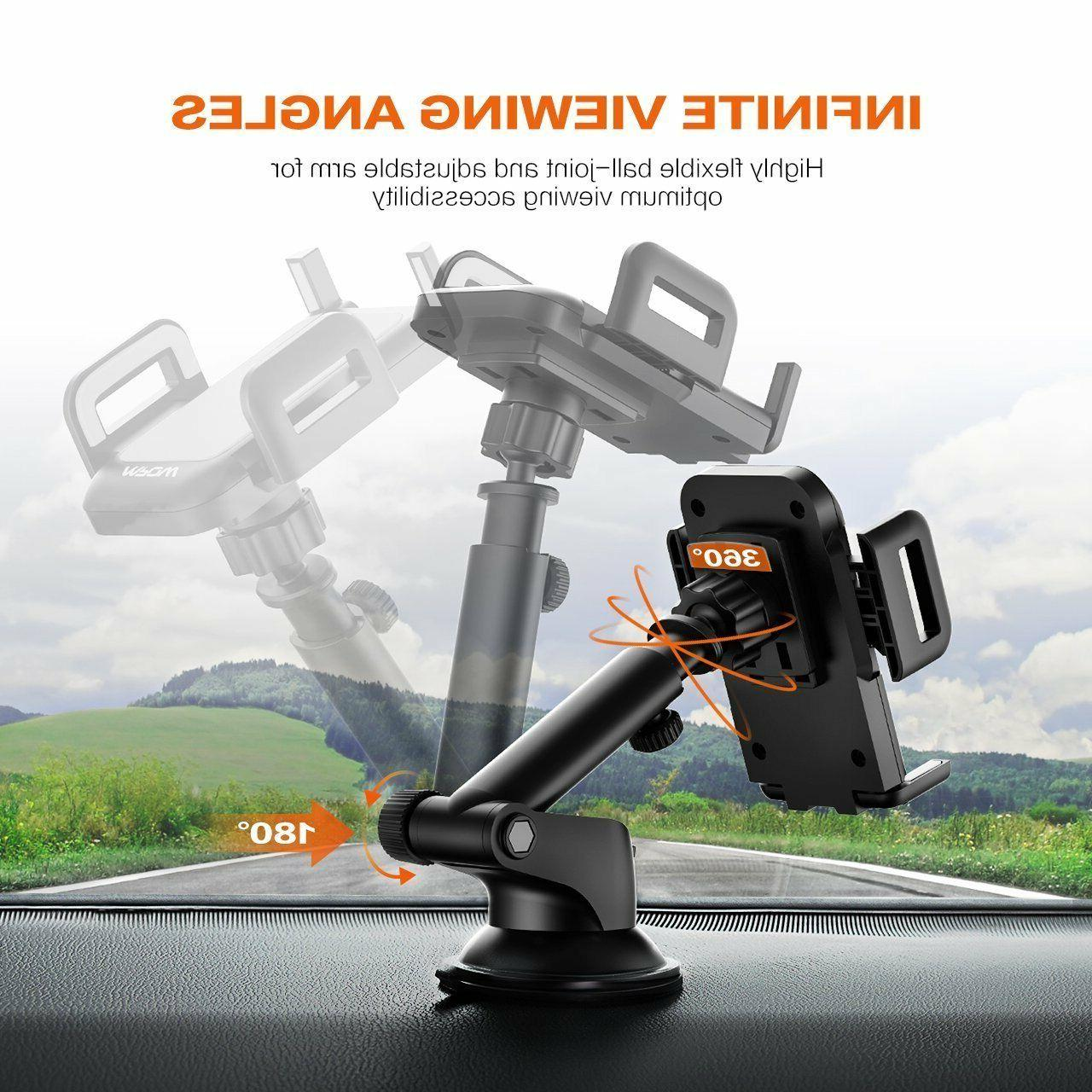 MPOW Car Mount Windshield Dashboard Stand For Cell US