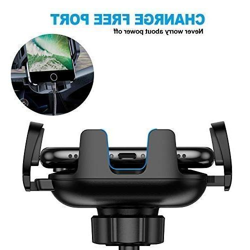 VANMASS Phone Mount, Dashboard Windshield Air Cell Phone Car, Strong Suck, One-Touch Design, GPS Cradle Compatible with iPhone Xs Max 8 7 6, S8 S9, V20