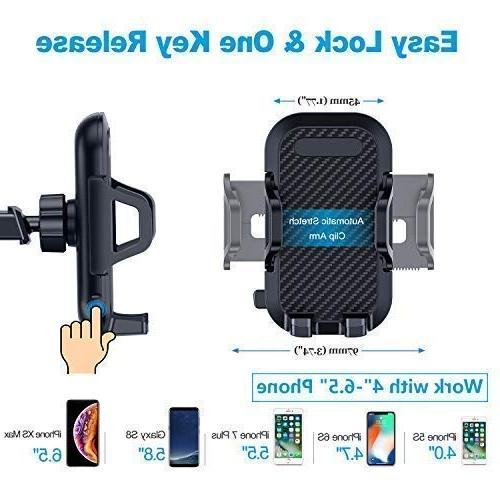 VANMASS Car Dashboard Cell Phone Car, Strong One-Touch Design, Car Cradle iPhone Xs 8 7 6, Galaxy S8 S9, V20