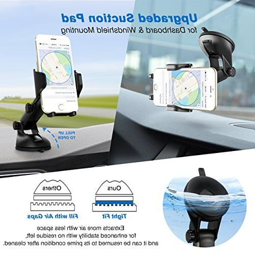 Mpow Universal Long Arm Car Holder, Dashboard Phone X/8/7/7Plus/6s/6Plus/5S, Huawei and
