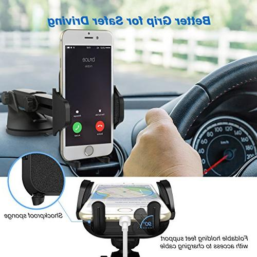 Mpow Phone Universal Holder, Dashboard Mobile Phone Cradle X/8/7/7Plus/6s/6Plus/5S, Huawei and More