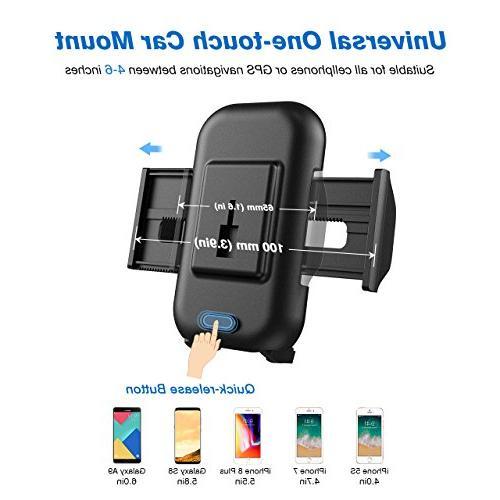 Mpow Car Universal Long Arm Car Phone Cradle X/8/7/7Plus/6s/6Plus/5S, Huawei