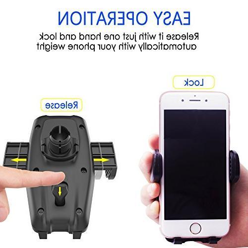 Marsee Phone Mount, Windshield Mount/Dashboard Phone Self-locking Anti-skid Android Phone Cradle