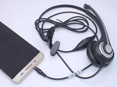 Wantek Wired Cell Phone Headset Mono With Noise