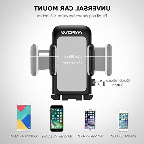 Mpow Holder Arm Car Phone with One and Anti-Skid Car Holder Compatible MAX/XS/XR/X/8/7/7P/6s,Galaxy S5/S6/S7/S8,Google,LG,Huawei