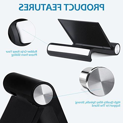 Fynix Phone Stand, Phone Compatible 7 6 Plus Se 5 iPad, Smartphone E-Reader, Black