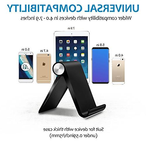 Fynix Pack Phone Adjustable Phone Stand Cradle Compatible 8 7 6 Se 5 5s 5c iPad, Galaxy Smartphone Tablet E-Reader,