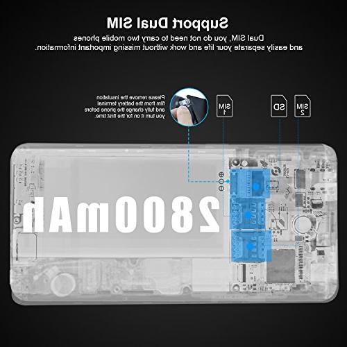 Unlocked Cell mobile N8-N Dual Unlocked Smartphones 5.5 + MP+ GSM Tmobile, Black