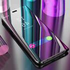 Clear View Mirror Flip Stand Case Cover For Huawei P Smart P