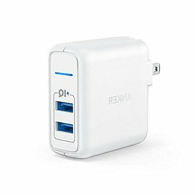 Anker Elite 2-Port 24W USB Wall Charger PowerPort 2 with Pow
