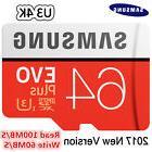 Samsung EVO Plus micro SD Card Class 10/ Class USH3 Read/ Wr