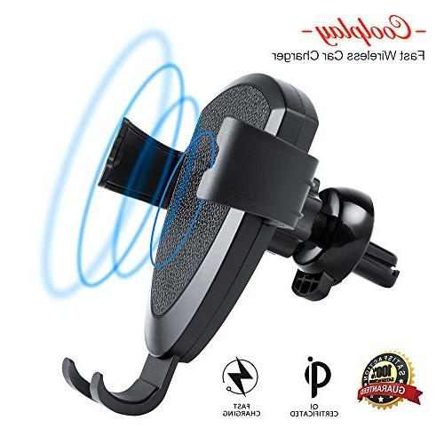 fast wireless car charger vent