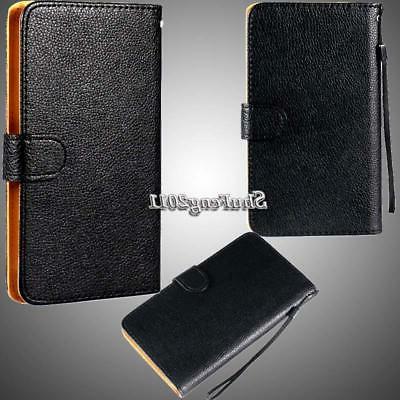 Flip Black Cover Wallet Leather Various ZTE Mobile +