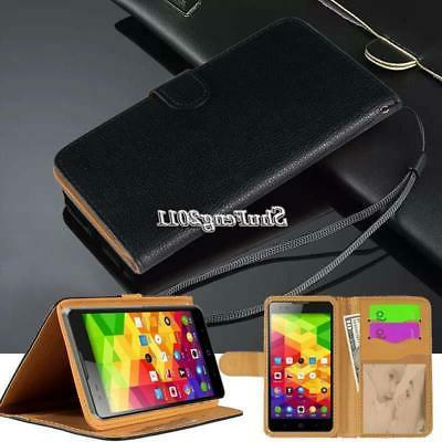 flip black cover stand wallet leather case