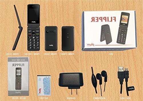 Plum - Unlocked GSM Screen Keypad Radio Camera Flash Tmobile Straight Talk
