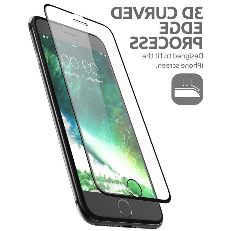"""<font><b>SUPCASE</b></font> iPhone 7/8 Plus 5.5""""Anti-Scratch Curved Anti-Impact Glass Screen Protector Guide Frame"""