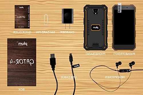 Plum Gator - Rugged Phone Unlocked 13 HD Display IP68 Grade 5000 mAh