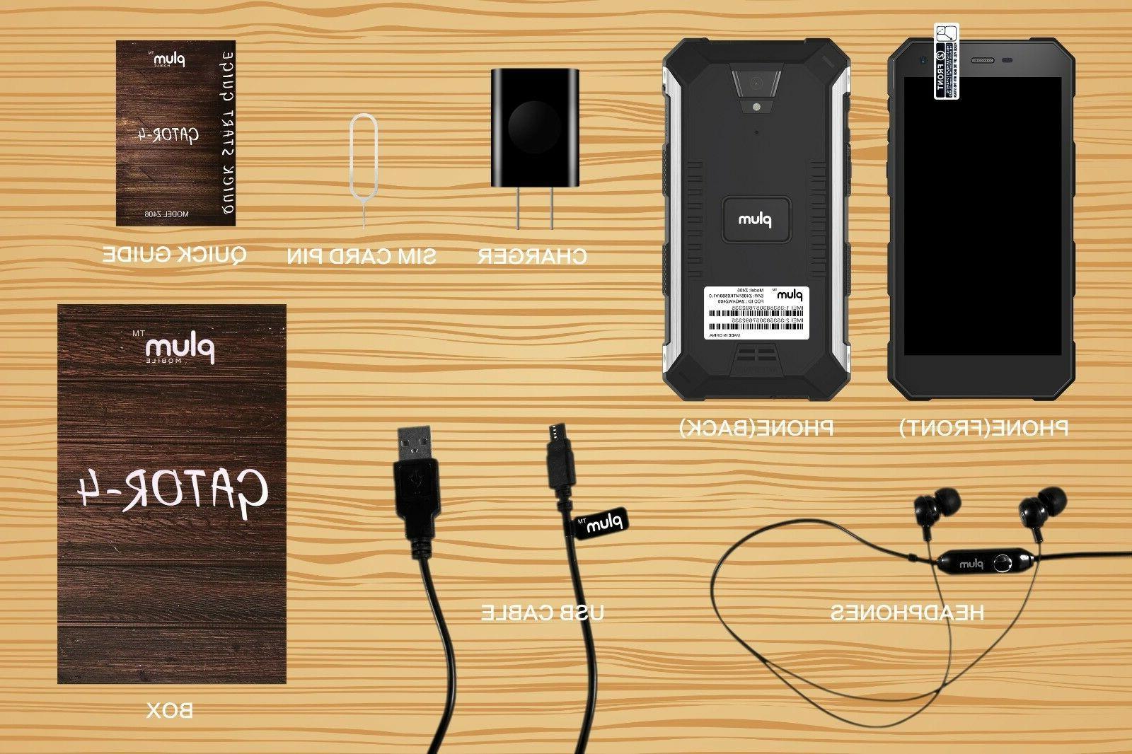 Plum 4 Rugged 4G Unlocked Smart Phone 5000 mAh IP68 Gra