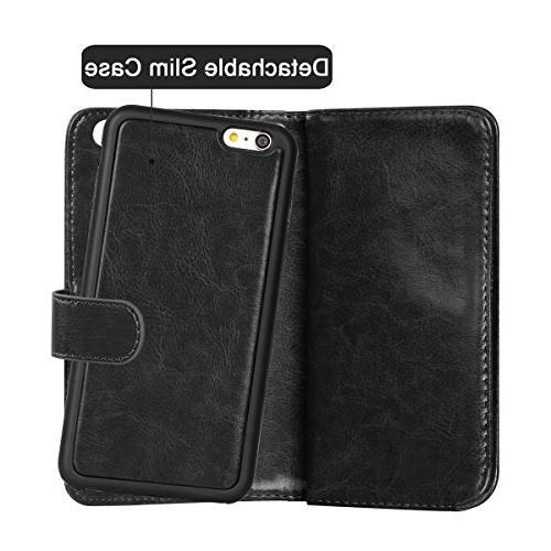 iPhone 6 Case, Vofolen 2 in 6S Flip Case Protective Shell Magnetic Slim Holder Wrist 4.7