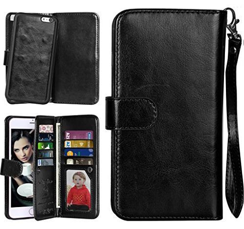 2 in 6S Flip Case Protective Magnetic Slim Back Card Holder Wrist for 4.7