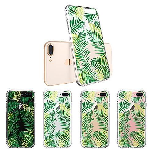 iPhone 8 Fashion iPhone Case, MOSNOVO Palm Leaves Design Printed Case with Case for 7 Plus iPhone 8 Plus