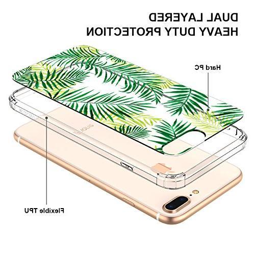 iPhone 8 Plus Case, iPhone 7 Plus Fashion iPhone 7 Case, MOSNOVO Leaves Case Case for 7 8