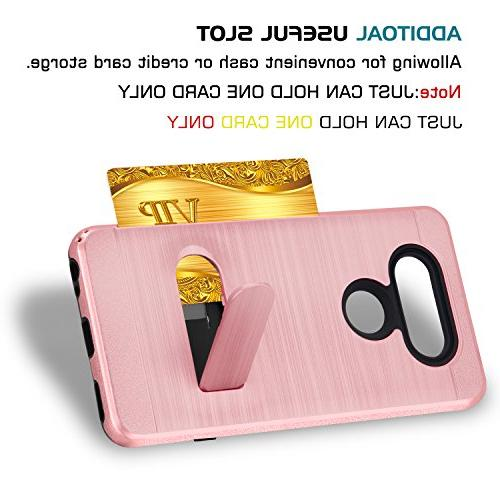LG Plus Case 2/LG Zone K8 with HD Screen Duty Shockproof Wallet for LG Aristo KC1 Rose