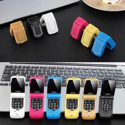 "LONG-CZ J9 Mini Flip 0.66"" 2G GSM Mobile Phone Car Key FM Sm"