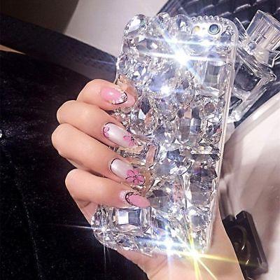 Luxury Gems Crystal Bling Rhinestone Hard Cover Mobile Phones